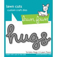 Lawn Cuts Scripty Hugs Custom Craft Die NOTM125514