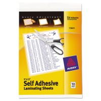Avery Clear Self-Adhesive Laminating Sheets, 3 mil, 9 x 12, 10/Pack AVE73603