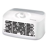 Honeywell HEPAClean Tabletop Air Purifier, 85 sq ft Room Capacity, White HWLHHT270W