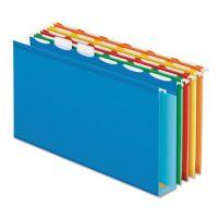 "Pendaflex Ready-Tab Hanging File Folders, 2"" Capacity, 1/6 Tab, Legal, Assorted, 20/Box PFX42702"