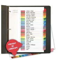Universal Table of Contents Dividers, Assorted Color 26-Tab, A-Z, Letter, White, 26/Set UNV24812