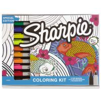 Sharpie Adult Coloring Kit, Aquatic Theme Coloring Book with 20 Markers SAN1989554