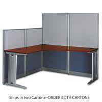 Bush L-Workstation (Box 1 of 2) Office-in-an-Hour, Hansen Cherry BSHWC36494A103