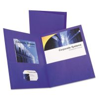 Oxford Twin-Pocket Folder, 100-Sheet Capacity, Purple, 25/Box OXF57514