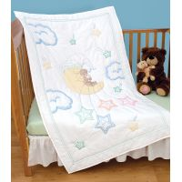 Jack Dempsey Stamped White Quilt Crib Top NOTM050552