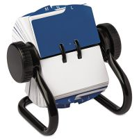 Rolodex Open Rotary Card File Holds 250 1 3/4 x 3 1/4 Cards, Black ROL66700