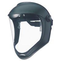 Honeywell Uvex Bionic Face Shield, Matte Black Frame, Clear Lens UVXS8500