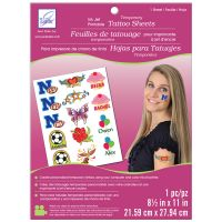 "Temporary Tattoo Ink Jet Printable Sheet 8.5""X11"" 1/Pkg NOTM095518"