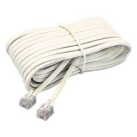 Softalk Telephone Extension Cord, Plug/Plug, 25 ft., Ivory SOF04020