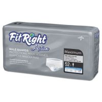 Medline FitRight Active Male Guards, 6 x 11, White, 52/Pack MIIMSCMG02