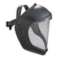 Honeywell Uvex Bionic Face Shield, Matte Black Frame, Clear Lens UVXS8510