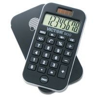 Victor 900 Antimicrobial Pocket Calculator, 8-Digit LCD VCT900