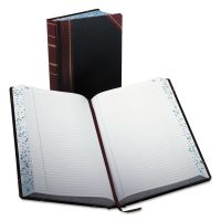 Boorum & Pease Record/Account Book, Record Rule, Black/Red, 500 Pages, 14 1/8 x 8 5/8 BOR9500R