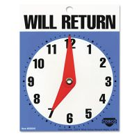 """COSCO Will Return Later Sign, 5"""" x 6"""", Blue COS098010"""
