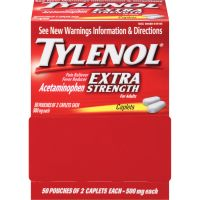 Tylenol Extra Strength Caplets, Two-Pack, 50 Packs/Box MCL44910
