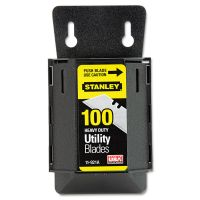 Stanley Wall Mount Utility Knife Blade Dispenser w/Blades, 100/Pack BOS11921A
