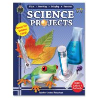 Teacher Created Resources Gr 3-6 Science Projects Book Education Printed Book for Science TCR2221
