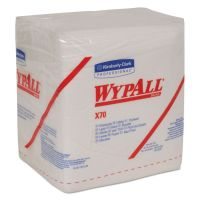 WypAll* X70 Cloths, 1/4 Fold, 12 1/2 x 12, White, 76/Pack, 12 Packs/Carton KCC41200
