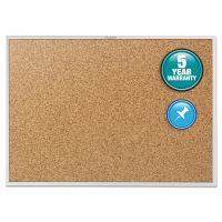 Quartet Classic Series Cork Bulletin Board, 24 x 18, Silver Aluminum Frame QRT2301