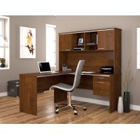 Bestar Flare L-shaped workstation in Tuscany Brown BESBES9042763