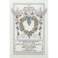 Platinum Collection  Wedding Doves Counted Cross Stitch Kit NOTM251170