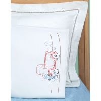 Jack Dempsey Children's Stamped Pillowcase W/White Perle Edge NOTM050546