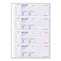 Rediform Receipt Book, 7 x 2 3/4, Carbonless Duplicate, 400 Sets/Book RED8L816