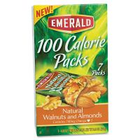 Emerald 100 Calorie Pack Walnuts and Almonds, .56oz Packs, 7/Box DFD54325