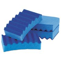 LYSOL Brand Durable Heavy Duty Scrub Sponges, 4 1/5 x 2 1/2 x 9/10, Blue, 4/Pack QCK575064PDQ10