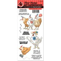 Art Impressions Funny Farm Cling Rubber Stamp NOTM484514