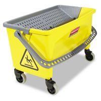 Rubbermaid Commercial HYGEN HYGEN Press Wring Bucket for Microfiber Flat Mops, Yellow RCPQ90088YW