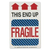 LabelMaster Shipping Self-Adhesive Label, 5 7/8 x 4 1/4, THIS END UP, FRAGILE, 500/Roll LMTL75