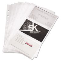 Samsill Refill Sheets for 4 1/4 x 7 1/4 Business Card Binders, 60 Card Capacity, 10/Pack SAM81079