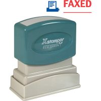 Xstamper Red/Blue FAXED Title Stamp XST2023