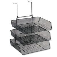 Fellowes Mesh Partition Additions Three-Tray Organizer, 11 1/8 x 14 x 14 3/4, Black FEL75902