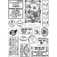 """Crafty Individuals Unmounted Rubber Stamp 3.75""""X5.5"""" Pkg NOTM039903"""