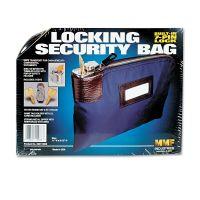 MMF Industries Seven-Pin Security/Night Deposit Bag w/2 Keys, Nylon, 8 1/2 x 11, Navy MMF233110808