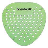 Boardwalk Gem Urinal Screen, Lasts 30 Days, Green, Herbal Mint Fragrance, 12/Box BWKGEMHMI