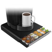 Mind Reader Coffee Pod Drawer, Fits 26 Pods, 14 3/4 x 13 1/4 x 2 3/4, Black EMSTRY26PCBLK