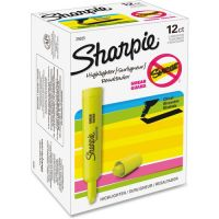 Sharpie Accent Tank Style Highlighter, Chisel Tip, Fluorescent Yellow, Dozen SAN25025