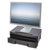 Officemate Monitor Stand with Drawer, 13 1/8 x 9 7/8 x 5, Black OIC22502