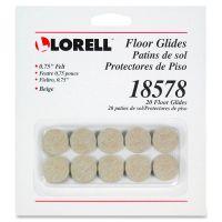 Lorell Self-Stick Round Felt Floor Glides LLR18578