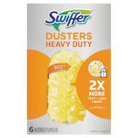 Swiffer Heavy Duty Dusters Refill, Dust Lock Fiber, Yellow, 6/Box, 4 Box/Carton PGC21620CT