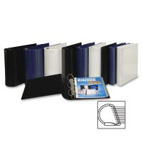 "Samsill Top Performance DXL 3-Ring View Binder, 4"" Capacity, Angle-D Ring, Black SAM17790"