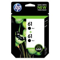 HP 61, (CZ073FN) 2-pack Black Original Ink Cartridges HEWCZ073FN
