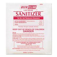 Diversey Beer Clean Last Rinse Glass Sanitizer, Powder, .25oz Packet, 100/Carton DVO90223