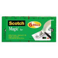 """Scotch Magic Tape Refill, 3/4"""" x 1000"""", 1"""" Core, Clear, 6/Pack MMM810K6"""