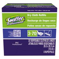 Swiffer Dry Refill System, Cloth, White, 32/Box PGC33407BX
