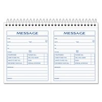 TOPS Spiralbound Message Book, 4 1/4 x 5, Carbonless Duplicate, 200 Sets/Book TOP4007
