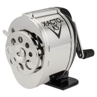 X-ACTO KS Manual Classroom Pencil Sharpener, Counter/Wall-Mount, Black/Nickel-plated EPI1031LMR